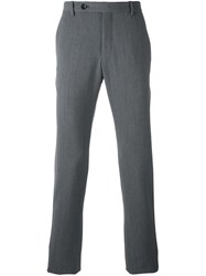Giorgio Armani Melange Tailored Trousers Grey