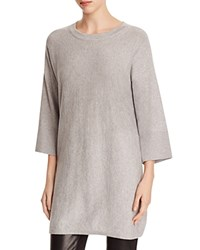 Eileen Fisher Organic Cotton Drop Shoulder Tunic Dark Pearl