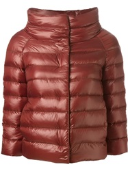 Herno High Collar Padded Jacket Red