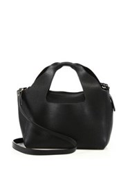 The Row Two For One 10 Leather Shoulder Bag And Pouch Black