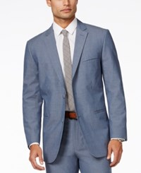 Alfani Red Men's Kyler Chambray Slim Fit Sport Coat Only At Macy's Chambray Blue