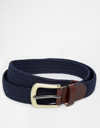 Barbour Stretch Webbing Belt Navy