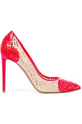 Nicholas Kirkwood Angie Cutout Patent Leather Pumps Bright Pink