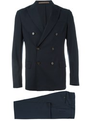 Eleventy Two Piece Suit Blue