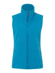 Tigi Leaf Quilted Gilet Blue