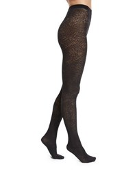 Wolford Zoi Semisheer Patterned Tights Black