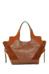 Ella Moss Luna Woven Leather Tote Brown