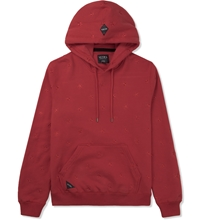 10.Deep Red Skydome Hooded Sweater