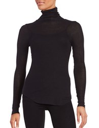 French Connection Lightweight Long Sleeve Turtleneck Top Black