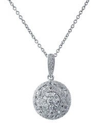 Effy Snowflake Diamond And 14K White Gold Pendant Diamond White Gold