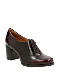 Clarks Tarah Victoria Lace Up Oxford Burgundy