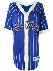 Moschino Baseball Shirt Dress Blue
