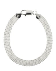 Lord And Taylor Sterling Silver Wide Bead Bracelet