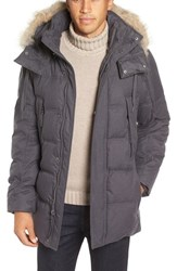 Marc New York Men's By Andrew Cumberland Genuine Coyote Fur Trim Down And Feather Fill Parka