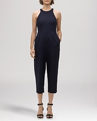 Whistles Jumpsuit Bex Wide Leg Navy