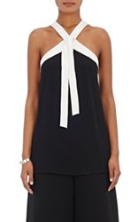Proenza Schouler Women's Halter Tie Neck Top Black