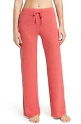 Make Model Women's 'Best Boyfriend' Brushed Hacci Lounge Pants Red Pepper