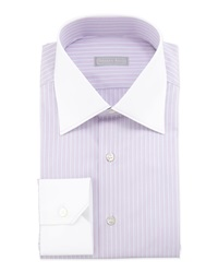 Stefano Ricci Multi Striped Contrast Collar Dress Shirt