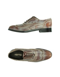 Alexander Hotto Lace Up Shoes Light Brown