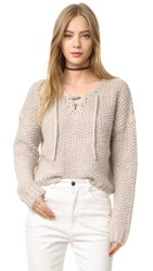 Intropia Lace Up Sweater Linen