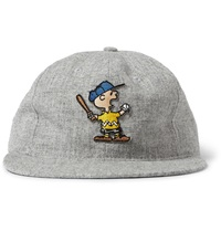 Tsptr Charlie Brown Appliqued Wool Baseball Cap Gray