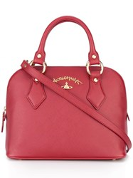 Vivienne Westwood Anglomania Logo Plaque Tote Red