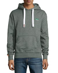 Superdry Green Label Cotton Hoodie Enamel Green Jasper