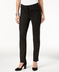 Styleandco. Style Co. Petite Ponte Slim Leg Pants Only At Macy's Deep Grey Heather