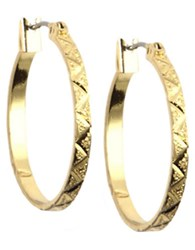Anne Klein 12 Kt Gold Plated Hoop Earrings
