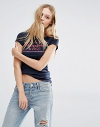 Abercrombie And Fitch Logo T Shirt Navy