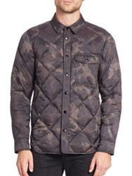 Rag And Bone Diamond Quilted Shirt Jacket Camo