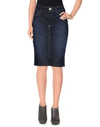 Guess Jeans Knee Length Skirts Blue