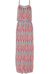 T Bags Printed Stretch Jersey Maxi Dress Multi