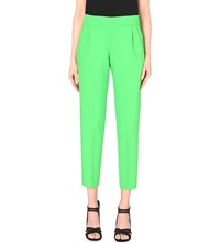 French Connection Whisper Light Cropped Trousers Astro Green