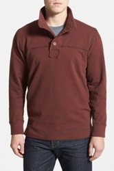 Jeremiah 'Taylor' French Terry Mock Neck Pullover Red