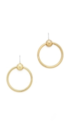 Luv Aj The Ring Of Fire Statement Earrings Antique Gold