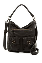 T Shirt And Jeans Washed Crossbody Black