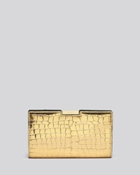 Milly Logan Metallic Embossed Small Frame Clutch Gold