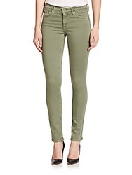 Ag Adriano Goldschmied The Stilt Sateen Cigarette Jeans Army Green
