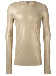 Unconditional Ribbed Foil T Shirt Metallic