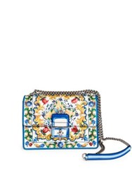 Dolce And Gabbana Bright Floral Evening Bag Blue Multi