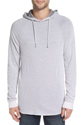 The Rail Men's Thermal Knit Raglan Hoodie White Two Tone Thermal