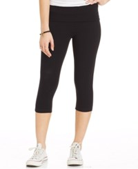 Material Girl Active Juniors' Cropped Foldover Leggings Black