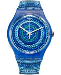 Swatch Unisex Swiss Exotic Charm Multi Color Silicone Strap Watch 41Mm Suos104