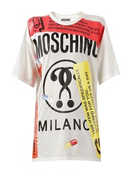 Moschino Oversized Labels Printed Jersey T Shirt