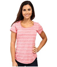 The North Face Ma X Short Sleeve Top Calypso Coral Heather Women's Short Sleeve Pullover Pink