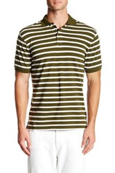 Joe Fresh Stripe Cutaway Polo Green
