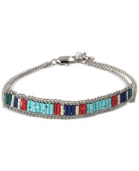 Kenneth Cole New York Silver Tone Colorful Beaded Bracelet