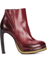 Vic Matie High Heel Ankle Boots Red