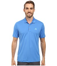 Adidas Branded Performance Polo Ray Blue Men's Short Sleeve Pullover